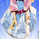 Коллекционные куклы ручной работы. Юлина. Ольга Шустова. Ярмарка Мастеров. Душевный подарок, атласные ленты