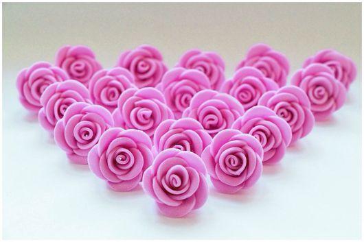 Материалы для флористики ручной работы. Ярмарка Мастеров - ручная работа. Купить Цветы розовые, 20 штук в наборе, ручная работа. Handmade.