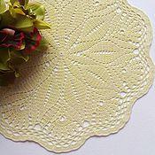 Для дома и интерьера ручной работы. Ярмарка Мастеров - ручная работа Салфетка кружевная Лимонный сорбет. Handmade.