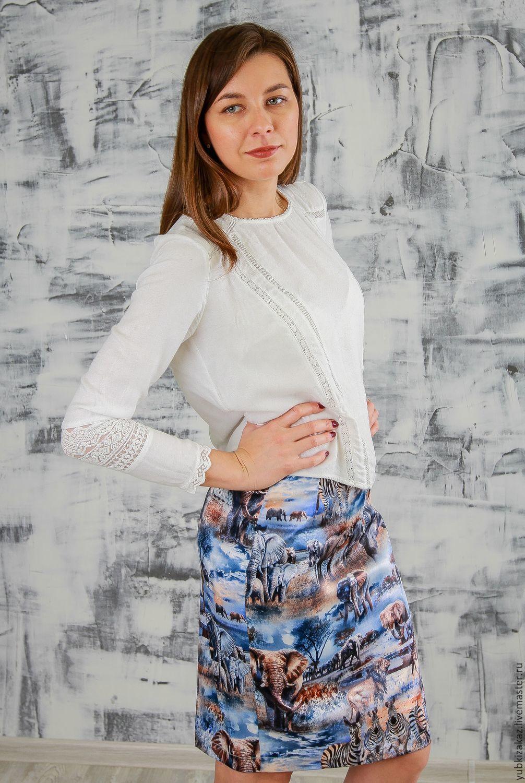 Skirt Africa from blokovogo satin