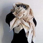 """Аксессуары ручной работы. Ярмарка Мастеров - ручная работа валяный шарф """"Сream wool"""". Handmade."""