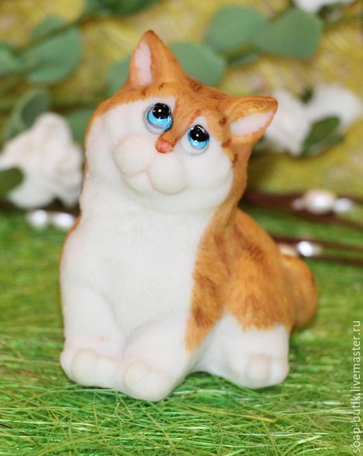 """Материалы для косметики ручной работы. Ярмарка Мастеров - ручная работа. Купить Силиконовая форма для мыла """"Мечтающий котик"""". Handmade."""