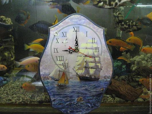 """Часы для дома ручной работы. Ярмарка Мастеров - ручная работа. Купить Часы """"Морское путешествие"""". Handmade. Часы, дерево"""