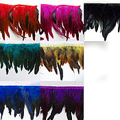 Перья ручной работы. Ярмарка Мастеров - ручная работа Тесьма из перьев петуха, 15-18 см, разные цвета (от 10 см). Handmade.