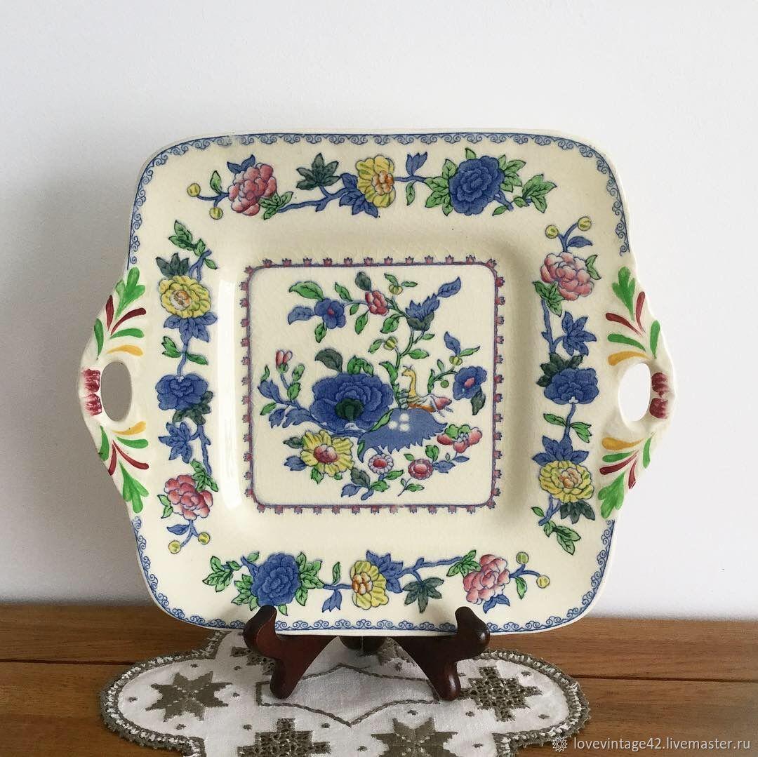 Винтаж: Квадратная тарелка от Mason's Regency, Тарелки винтажные, Лондон,  Фото №1