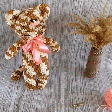 Куклы и игрушки ручной работы. Ярмарка Мастеров - ручная работа Мягкие игрушки: Кошечка Зефирка. Handmade.