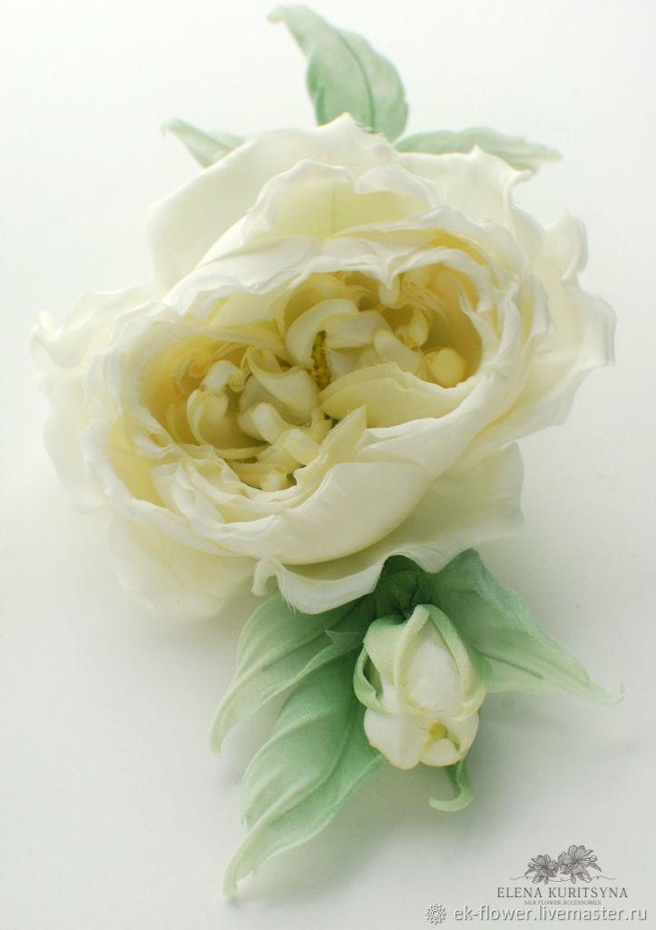 Silk flowers rose brooch clarissa shop online on livemaster order silk flowers rose brooch clarissa silk flower mightylinksfo