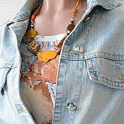 Украшения handmade. Livemaster - original item Necklace on a string of agate BRIGHT DAY. Handmade.