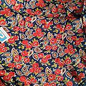 Ткани ручной работы. Ярмарка Мастеров - ручная работа 200 х 74 см. Ткань ситец, винтаж.. Handmade.