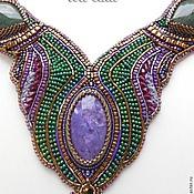 "Украшения handmade. Livemaster - original item Necklace ""Misterious charoite"". Handmade."