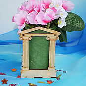 Материалы для творчества handmade. Livemaster - original item Pencil holder, stand for flowers Temple of Aphrodite, blank. Handmade.