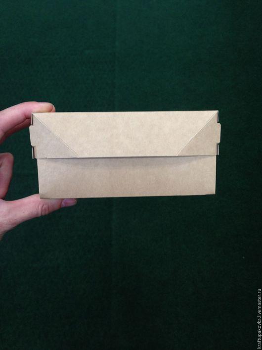Крафт коробочка.Открывается вверх.