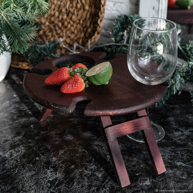"""Винный столик """"Звездное небо"""" VN10, Подносы, Новокузнецк,  Фото №1"""