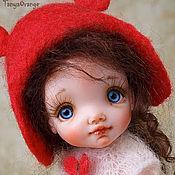 Куклы и игрушки handmade. Livemaster - original item Art doll polymer clay Red шапочка18cm. Handmade.