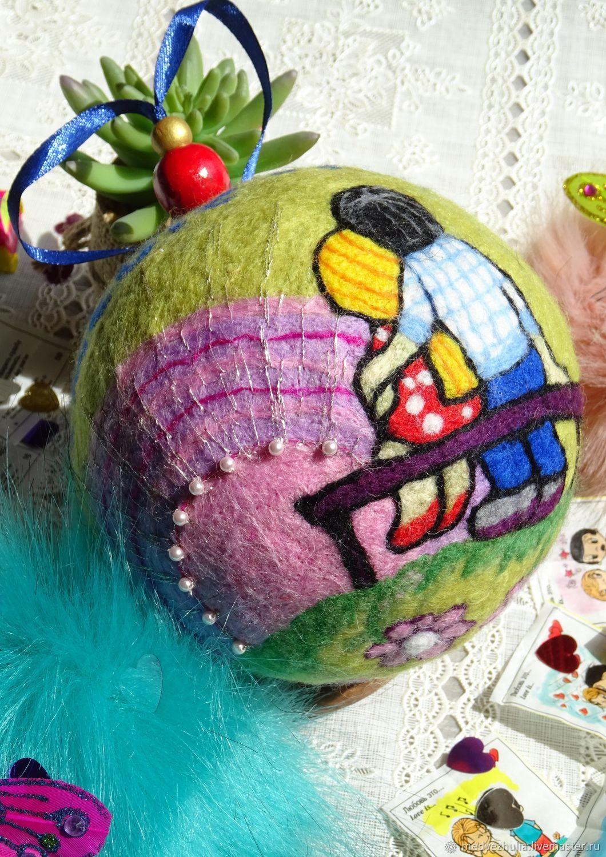 Любовь это... Войлочный шар, Именные сувениры, Москва,  Фото №1
