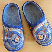 """Обувь ручной работы. Ярмарка Мастеров - ручная работа Тапки валяные домашние """"Яркие"""". Handmade."""