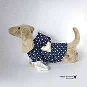 Куклы и игрушки ручной работы. Ярмарка Мастеров - ручная работа собака в шубке. Handmade.