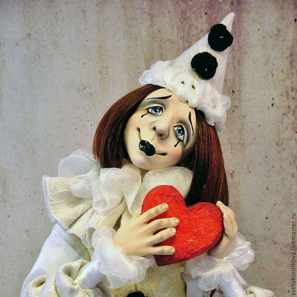 OOAK art doll Pierrot – shop o...