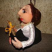 """Куклы и игрушки ручной работы. Ярмарка Мастеров - ручная работа Кукла - попик из капрона  """"ответственный бухгалтер"""". Handmade."""