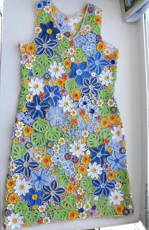 Платья ручной работы. Ярмарка Мастеров - ручная работа. Купить Платье Почти июль Ирландское кружево. Handmade. Цветочный, разнотравье