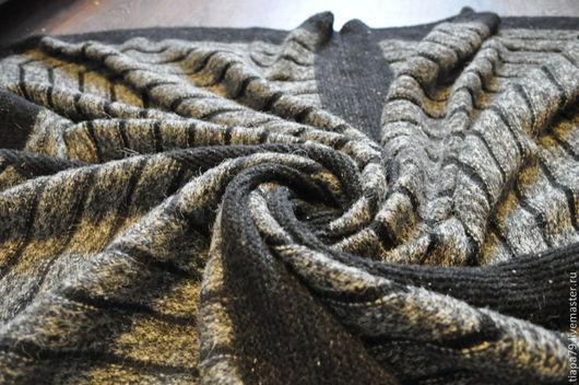 """Текстиль, ковры ручной работы. Ярмарка Мастеров - ручная работа. Купить Плед """"Мегаполис"""". Handmade. Серый, подарок на день рождения"""