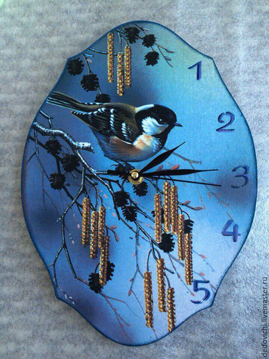 """Часы для дома ручной работы. Ярмарка Мастеров - ручная работа. Купить Часы интерьерные настенные ручной работы """"Весенние"""". Handmade."""