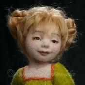 Куклы и игрушки ручной работы. Ярмарка Мастеров - ручная работа Авторская войлочная кукла садовая Лиза. Handmade.
