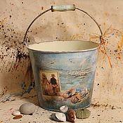 Для дома и интерьера handmade. Livemaster - original item bucket of sea treasures. Handmade.