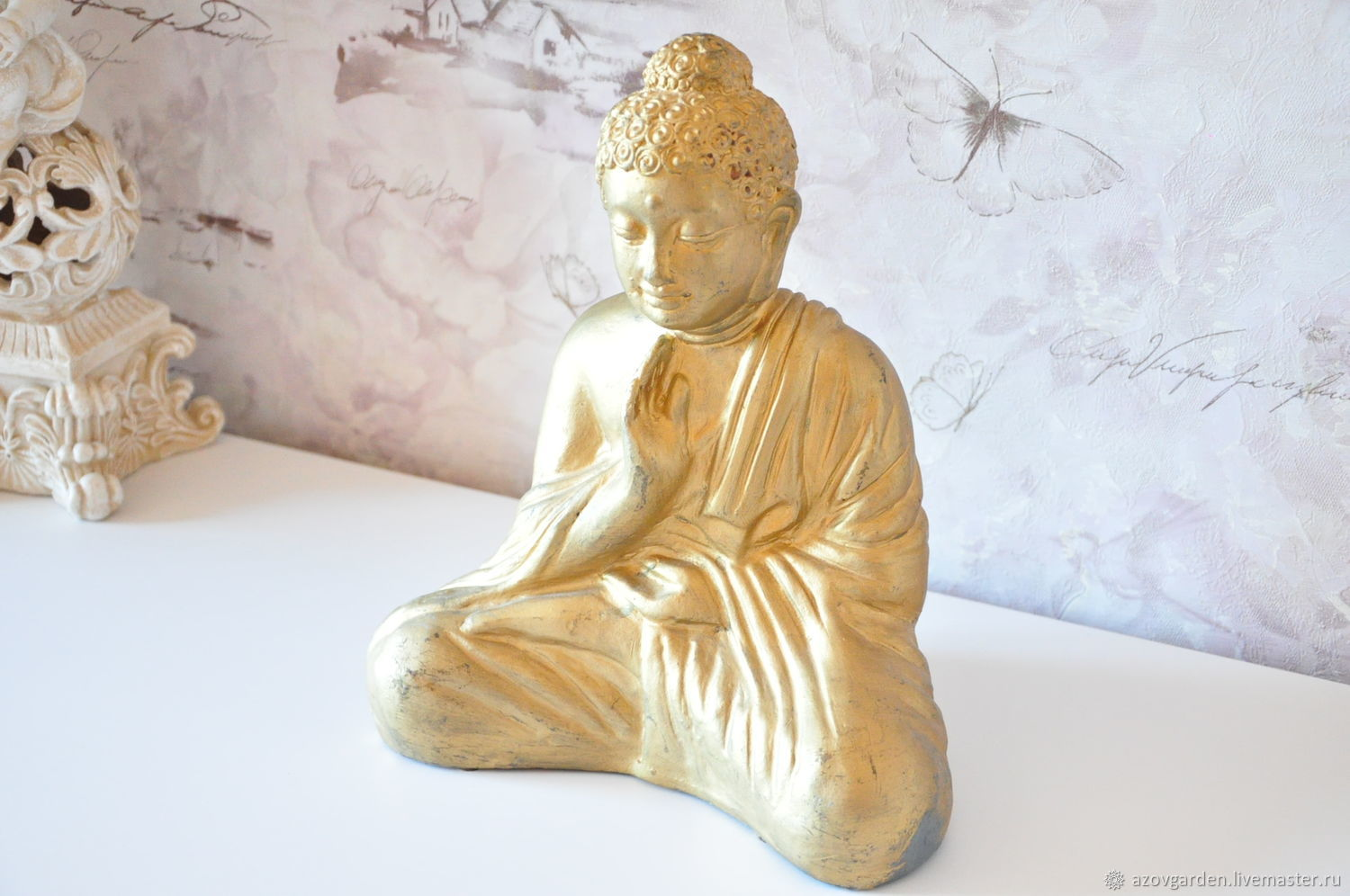 The concrete sculpture of a sitting Buddha for home and garden, Garden figures, Azov,  Фото №1