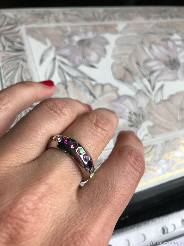 Rainbow ring, Swarovski crystals, Europe, Vintage accessories, Arnhem,  Фото №1