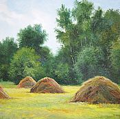 Картины и панно handmade. Livemaster - original item Oil painting peisaj Stack _ author`s work. Handmade.