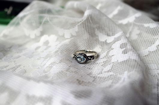 Кольца ручной работы. Ярмарка Мастеров - ручная работа. Купить винтажное кольцо. Handmade. Голубой, нежность, романтика, винтажный стиль