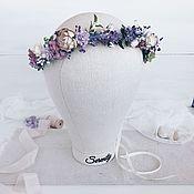 Диадемы ручной работы. Ярмарка Мастеров - ручная работа Венок на голову Lavender dream. Handmade.