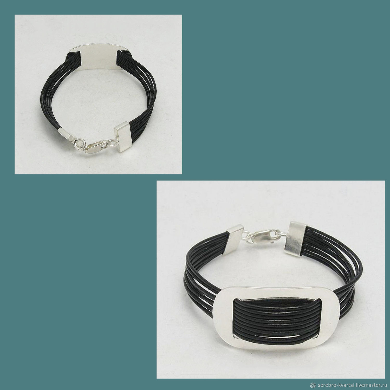 Bracelet leather wide. A leather bracelet, Cuff bracelet, Turin,  Фото №1