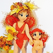 """Куклы и игрушки ручной работы. Ярмарка Мастеров - ручная работа """"Мамина любовь"""" вязаные куклы. Handmade."""