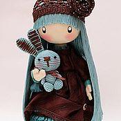 Куклы и игрушки ручной работы. Ярмарка Мастеров - ручная работа Текстильная кукла Мими (шоколадно-бирюзовое бохо) .... Handmade.