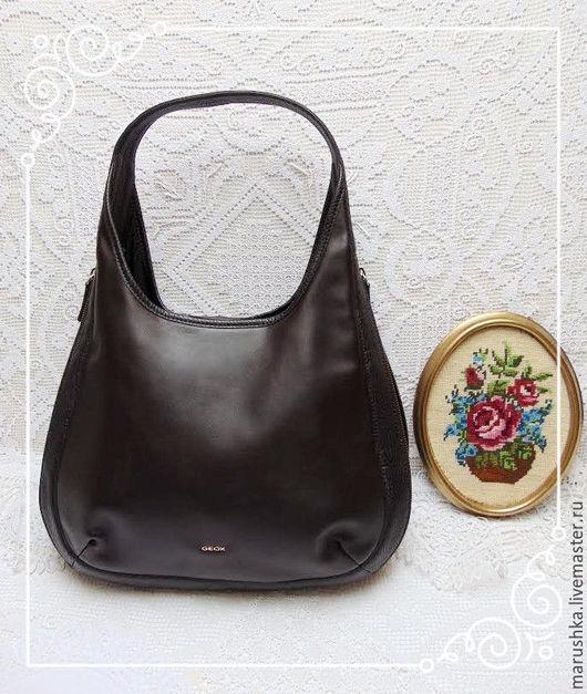 Винтажные сумки и кошельки. Ярмарка Мастеров - ручная работа. Купить Винтажная сумка Geox, Италия.... Handmade. Коричневый, удобная сумка