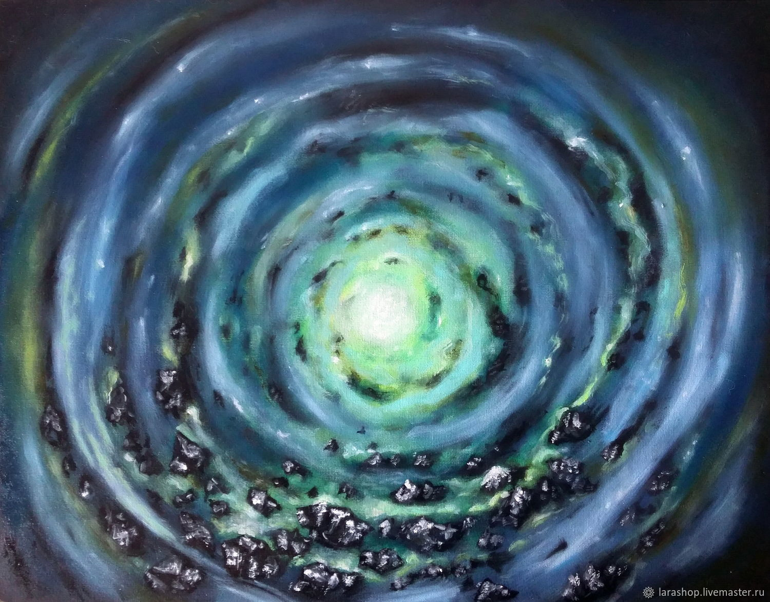 Abstract oil painting on the theme of space ' Goal', Pictures, Moscow,  Фото №1