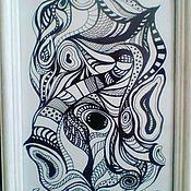 Картины и панно ручной работы. Ярмарка Мастеров - ручная работа Рыба-Шива. Handmade.