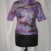 """Одежда ручной работы. Ярмарка Мастеров - ручная работа Блуза валяная  2 в 1 """"Северное сияние"""". Handmade."""