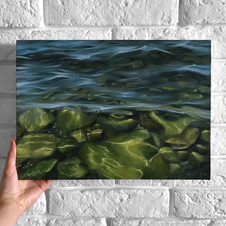 Картина маслом морской пейзаж, морское дно Черного моря, Картины, Севастополь,  Фото №1