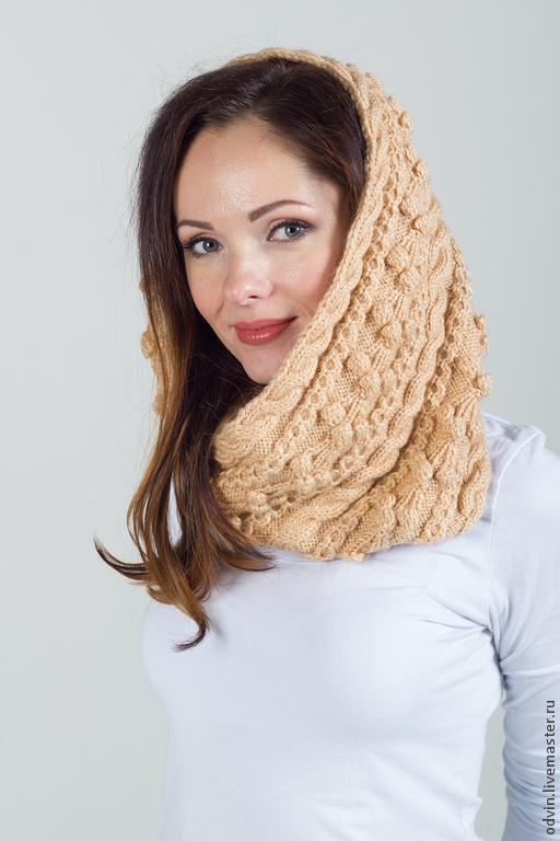 """Шали, палантины ручной работы. Ярмарка Мастеров - ручная работа. Купить Шарф-снуд вязаный """"Мечта королевы"""", шарф вязаный, снуд вязаный женский. Handmade."""