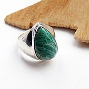 Украшения handmade. Livemaster - original item Ring with amazonite Feeling of spring 19-19.25 R-R. Handmade.