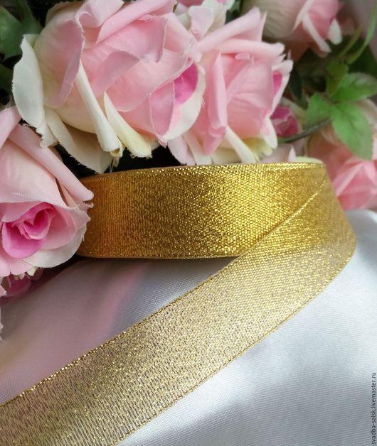 Шитье ручной работы. Ярмарка Мастеров - ручная работа. Купить Лента парча (25 мм) золото. Handmade. Лента декоративная