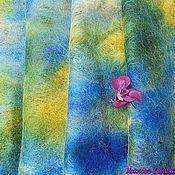 Аксессуары ручной работы. Ярмарка Мастеров - ручная работа Шарф женский валяный синий Радужное настроение.. Handmade.