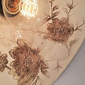Для дома и интерьера ручной работы. Ярмарка Мастеров - ручная работа Люстра с большим плафоном из фарфора «Кружева»  (33 или 45 см). Handmade.
