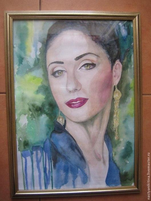 Люди, ручной работы. Ярмарка Мастеров - ручная работа. Купить Карина. Handmade. Зеленый, портрет, портрет на заказ, рисунок