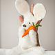 Кукольный театр ручной работы. Заказать Перчаточная кукла- Заяц с морковкой. Яна Войлок. Ярмарка Мастеров. Заяц игрушка