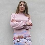 """Одежда ручной работы. Ярмарка Мастеров - ручная работа Платье """"Птичье зимовье"""". Handmade."""