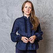 Одежда handmade. Livemaster - original item Long shirt with drawstring waist (For Mary). Handmade.